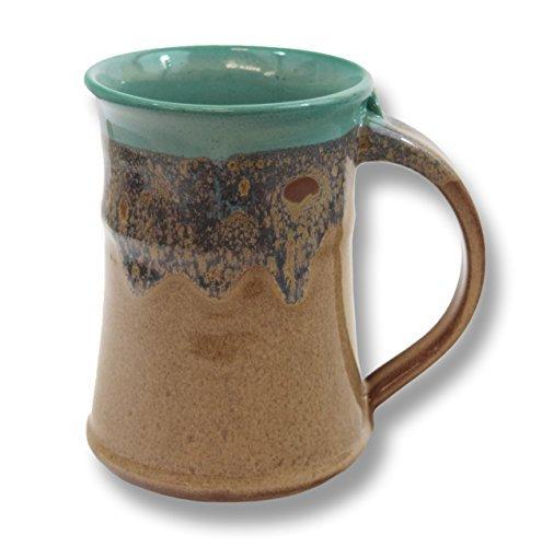(Clay in Motion Handmade Ceramic Large Mug 20oz - Island Oasis)