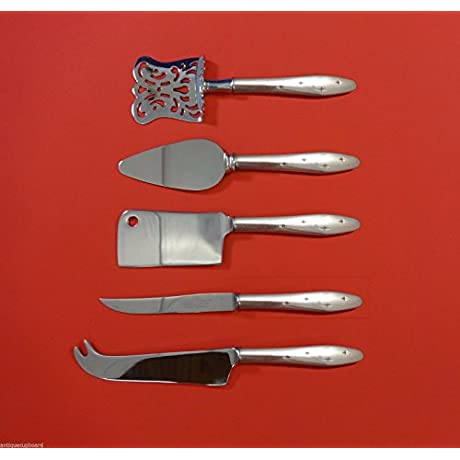 Dawn Star By Wallace Sterling Silver Fruit Cheese Serving Set 5pc HHWS Custom