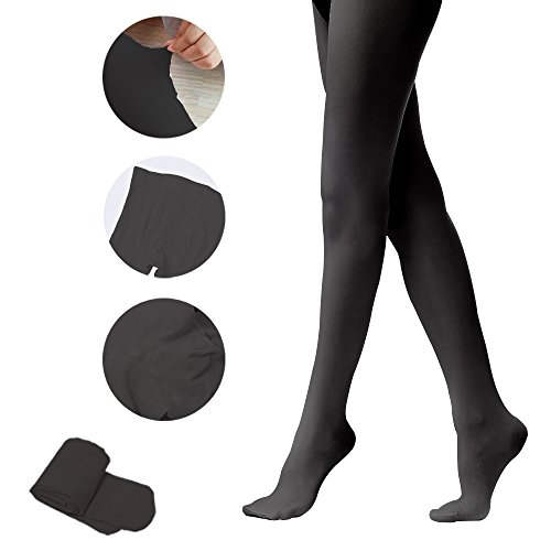 Tights for Girls Ballet Leotards Toddler Dance Leggings Pants Footed Kids (Black - 1 Tights, 7-10 Years) -