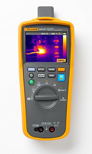 Fluke 279FC Wireless TRMS Thermal Multimeter, Full-Featured Digital with Built-In Thermal Imager and Iflex Compatibility
