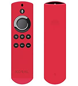 Koral Case for Alexa Voice Remote for Fire TV Stick, Fire TV Streaming Media Player, and Fire TV Cube (Red)