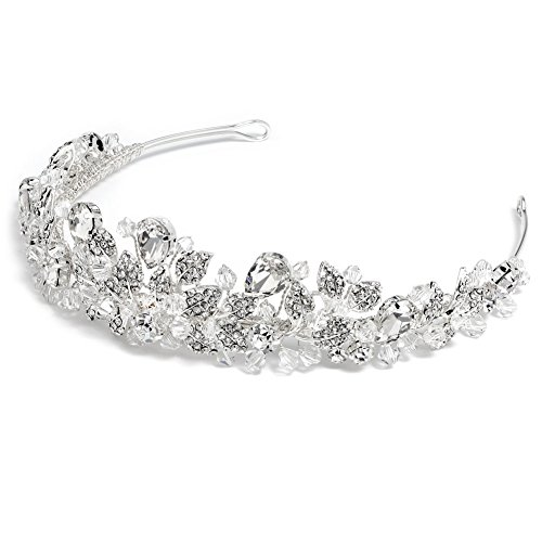 USABride Swarovski Crystal and Rhinestone Bridal Tiara Wedding Crown 3100 by USABride (Image #3)