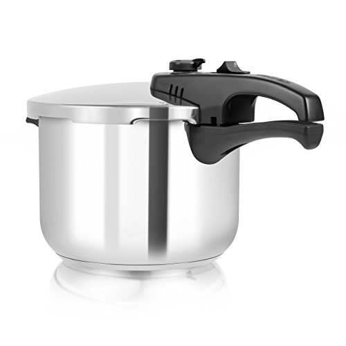 Tower Pressure Cooker with Steamer Basket, Stainless Steel, 6 Litre