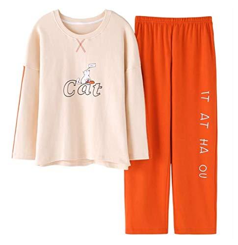 Largas Home De Pijama Algodón Conjunto Wear Xxxl Ahsxl M Mujer Mangas Para czwqOFYdCY