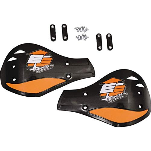 NEW ENDURO ENGINEERING BLACK AND ORANGE HAND GUARDS 51-127