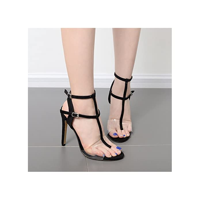 Suhang Sandali Trasparenza 12cm Tacco Alto Esposte Calzature Donna