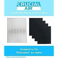 Fellowes HEPA Air Purifier Filter & 4 Carbon Filters, Part # HF-300