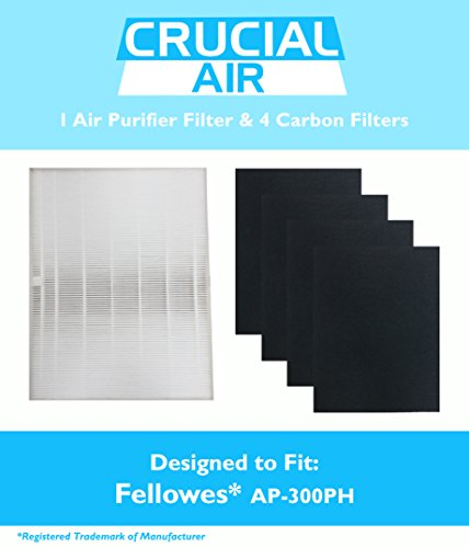 Fellowes HEPA Air Purifier Filter & 4 Carbon Filters, Part # HF-300