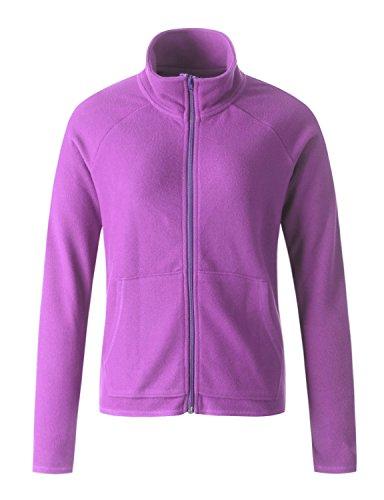Regna X Women Hiking Versatile Active Full Zip up Fleece Jacket Purple M Medium ()