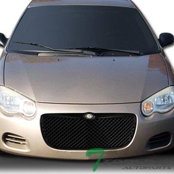 Topline Autopart Matte Black Mesh Front Hood Bumper Grill Grille ABS For 04-06 Chrysler Sebring 4 Door Sedan / 2 Door Convertible
