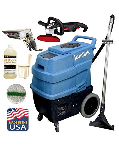 JaniLink Premium 500 PSI Portable Carpet Extractor Machine With Hose, Wand, 2 Heats, 3 Vac Motors 6 Stages and Essential tools Included 720096JL_KIT