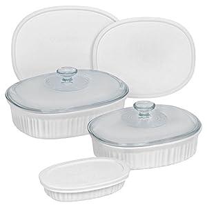 Best Epic Trends 411wzl9u63L._SS300_ CorningWare French White 8-Piece Bakeware Set
