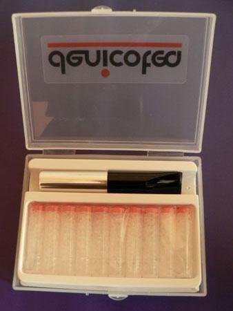 Denicotea 20267 Ejector Silver / Black Saddle Cigarette Holder with 10 Filters