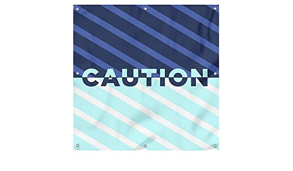 9x3 Employees Only Nautical Stripes Wind-Resistant Outdoor Mesh Vinyl Banner CGSignLab