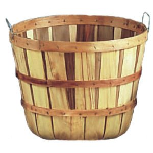 5 Peck Field Basket, Natural, with Handles, 18