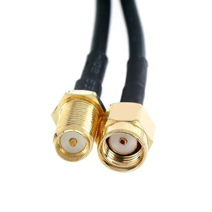 KKmoon 6M Antena RP-SMA Cable de extensión para Router WiFi