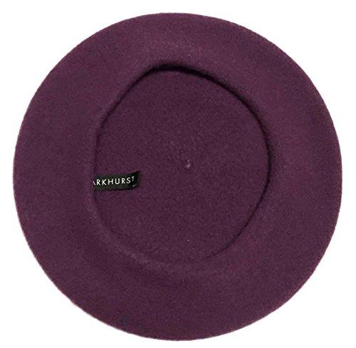 Parkhurst Classic Wool Beret (Inkberry Purple)