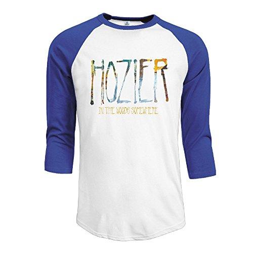 YI Own Men's Funny Hozier 3/4 Sleeve Baseball T-Shirt RoyalBlue