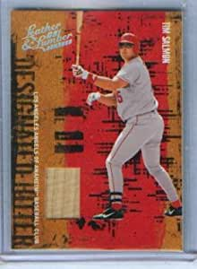Tim salmon 2005 donruss baseball leather lumber game for Used lumber los angeles