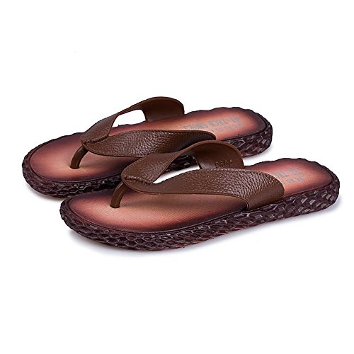 Marrone 42 shoes Color Mens Pantofole Flops classiche 2018 EU uomo Beach Sandals Dimensione da Nero Flip ZOF5nwqx