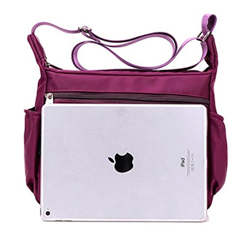 Rose Purse Bag Medium Size Nylon Shoulder Women`s Crossbody Resistant Lightweight Water Kecartu WqpRgq