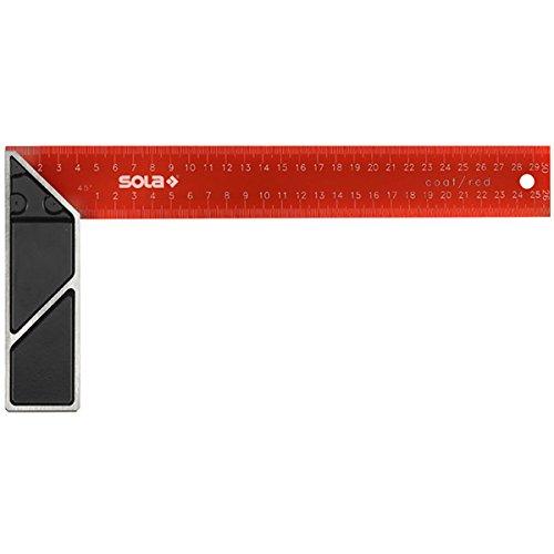 200 x 125 mm Sola 56014001 /Équerre de Menuisier SRC 200 Noir