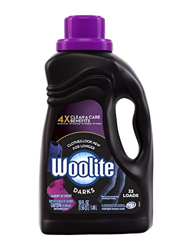 Woolite Dark Care Laundry Detergent, Midnight Breeze Scent, 50 oz/ 33 Loads (Best Detergent For Black Clothes)