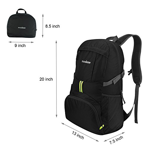 Lightweight Backpack, Travel Backpack, Modase Large 35L Packable Travel Hiking Backpack Daypack - Water Resistant Foldable Backpack