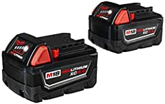 Delivers up to 2.5X more run-time, 20% more power and 2X more life than standard lithium-ion batteries. The M18 REDLITHIUM XC 5.0 Extended Capacity Battery Pack features superior pack construction, electronics, and performance to deliver more...