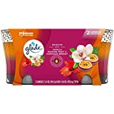 Glade Candle Jar, Air Freshener, 2in1, Hawaiian Breeze & Vanilla Passion Fruit, 6.8 oz, Pack of 2