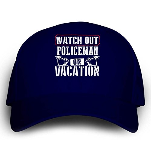 [Watch Out Policeman On Vacation - Cap] (Cheap Police Hats)