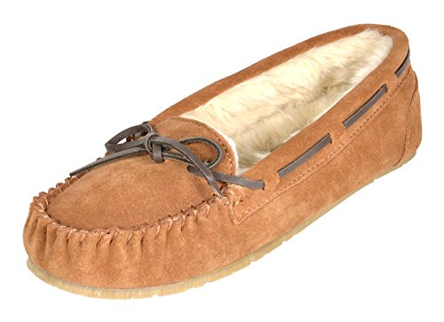 DREAM PAIRS Women's Shozie-01 Tan Faux Fur Slippers Loafers Flats Shoes Size 9.5-10 M US