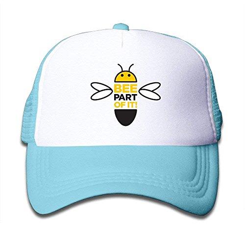 Kid's Cute Animated Bumble Bee Snapback Cap Hat (Bee Cap Bumble Toddler)