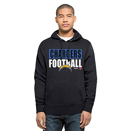 NFL San Diego Chargers Men's '47 Headline Pullover Hoodie, Large, Fall Navy