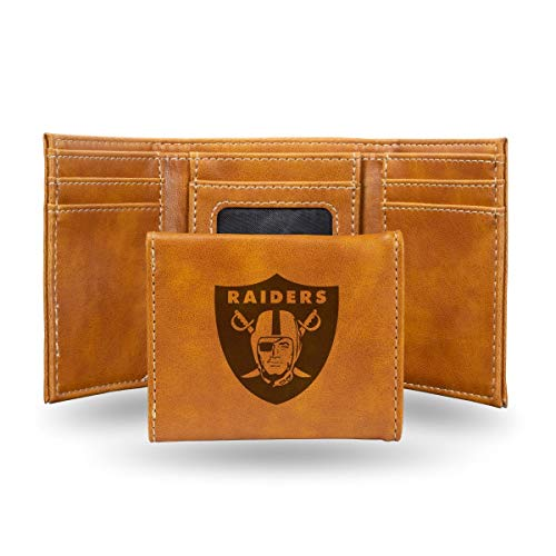 Rico Industries NFL Oakland Raiders Laser Engraved Tri-Fold Wallet, ()