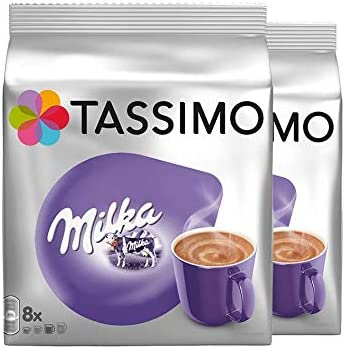 Tassimo Milka Hot Chocolate Pack Of 2 2 X 8 T Discs 16 Servings