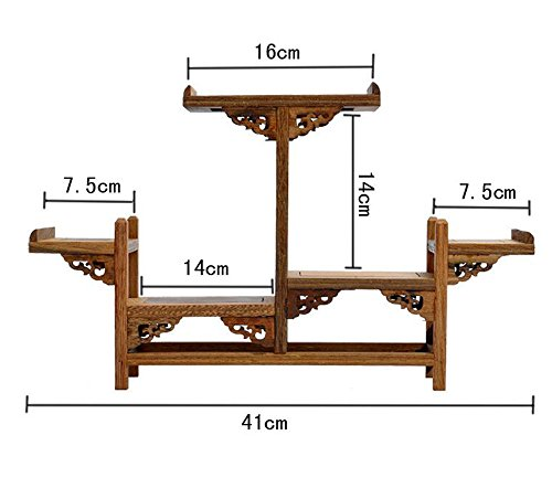 NWFashion Chinese Wooden Assemble Display Stand Symmetric Double Floor Curio Cabinets Shelf (3) by NWFashion