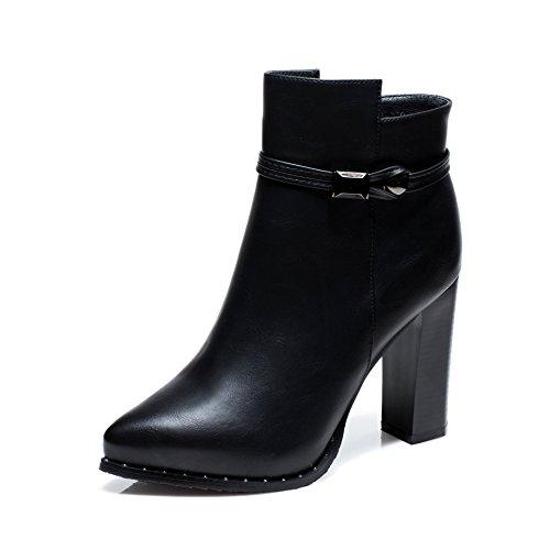 khskx de todos los Golpe Alto hackige Zapatos Botas con gruesos resistente al agua Taiwan Martin puntas Botas y cachemira negro