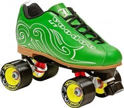 LABEDA VOODOO U-7 ROLLER SKATES (Cool Green, 6.5) (Boot Labeda)