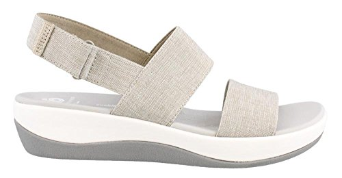 Clarks Womens Arla Jacory Wedge Sandal Desert Heathered Fabric