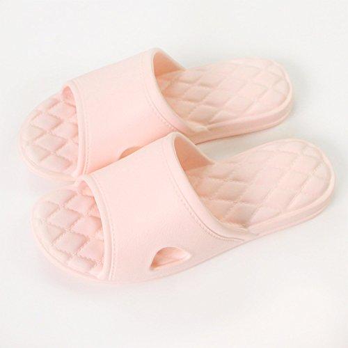 anti fresco pantofole pantofole balneazione slittamento 39~40 home stanza estate stagioni donne bagno uomini rosa fankou quattro la spesse e da qFfSzzw