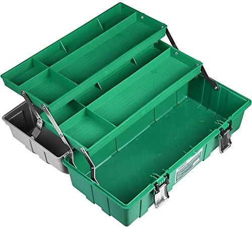 ChenCheng 工具収納ボックス強化プラスチック三層工具家庭用工具収納ボックス自動車多機能修理工具収納ボックス労働者大スペース収納ボックス ツールボックスストレージと組織 (Size : 420mmx190mmx170mm)