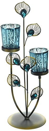 (Peacock Plume Candle Holder Lighting Accessories Light Table Accessories Home Decor Home Decorative Items Accessories and Gifts)