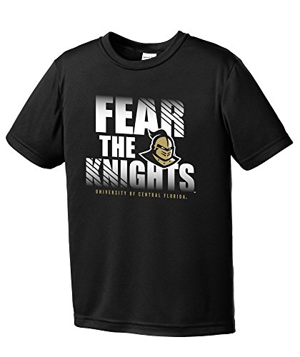 NCAA Central Florida Golden Knights Youth Fear Short Sleeve Polyester Competitor T-Shirt, Small,Black