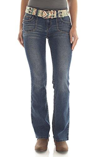 WallFlower Women's Jeans Belted Luscious Curvy Boot, Baldwin, 5