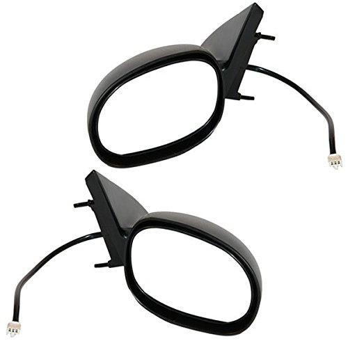 1998-2004 Dodge Intrepid, Chrysler Concorde & 1999-2001 Chrysler 300M Power Without Heat Black Fixed Non-Folding Non-Heated Without Memory Rear View Mirror Pair Set Left Driver AND Right Passenger Side (1998 98 1999 99 2000 00 2001 01 2002 02 2003 03 2004 04)