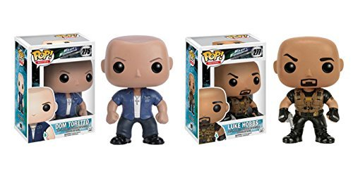 Funko POP Movies Fast and Furious Dom Toretto and Luke Hobbs 2 Piece BUNDLE
