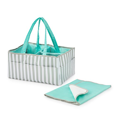 Stella Mia Diaper Caddy [Bonus Changing Pad] - Extra-Large Portable Nursery Diaper Stacker - Changing Table Organizer for Baby Essentials - Perfect Baby Shower Gift, Baby Registry Must Have by Stella Mia