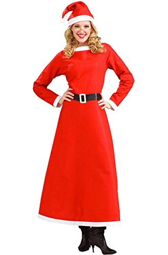 Forum Novelties Women's Simply Mrs. Santa Costume, Multi, Plus (Mrs Claus Plus)