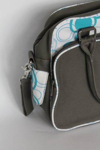 Original Dooky 126571Bolso Cambiador-Azul Círculos de